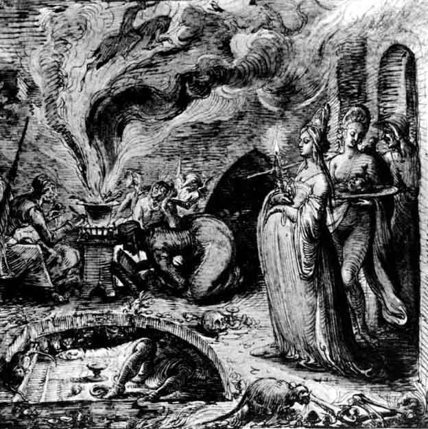 Witchcraft Art Infanticidal witches